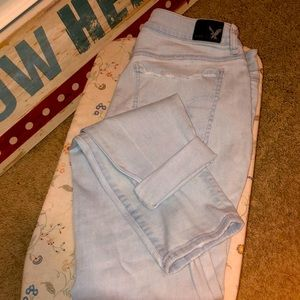 Sz12 X-Long SuperLowRise AEO SuperStretch Jeggings